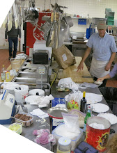 Photo: The kitchen in preparation...