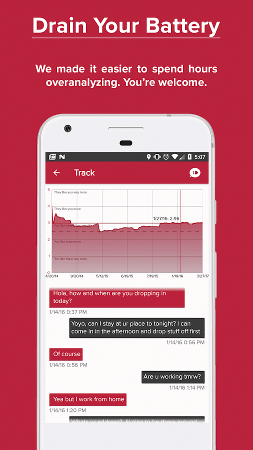 Crushh: Analyze Your Texting Relationships- screenshot