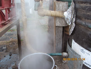 Photo: too much steam, larger tank fittings , a bit of internal damper..