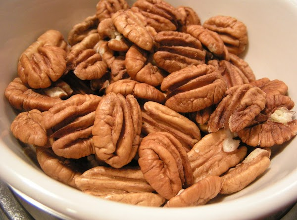 Preheat oven to 300 degrees F. Have pecans ready and set aside.