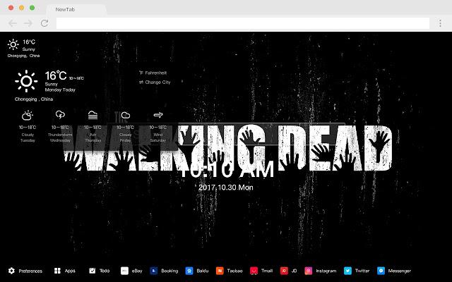 Walking Dead New Tab HD Popular TV Theme