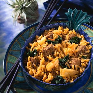 Curry-Reistopf mit Ananas