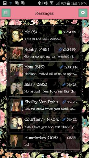 GO SMS - FlowerLove3
