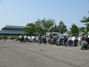 Photo: The second group of riders are waiting their turn to hit the road