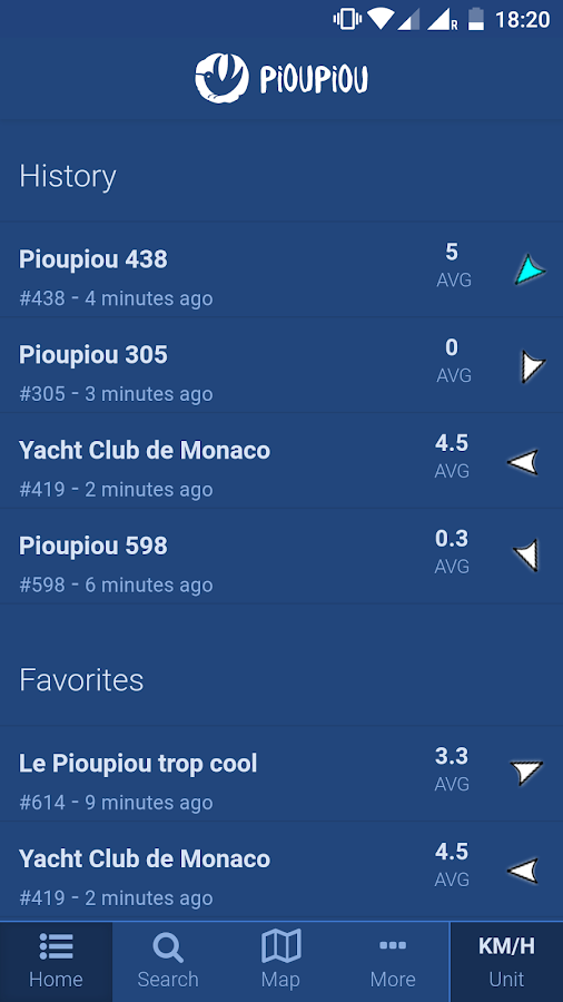 Pioupiou Live Wind- screenshot