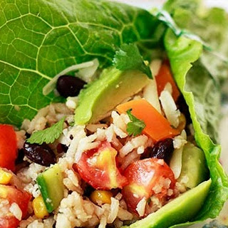 Tex Mex Rice and Black Bean Salad Wraps