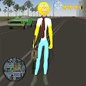Stickman Sinpson Rope Hero Crime City Battle icon