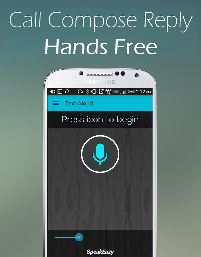 Text Aloud - Hands Free Lite- screenshot