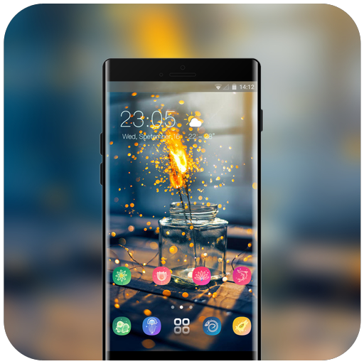 Theme for bright flame emotion wallpaper icon
