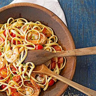 Spicy Shrimp Pasta.