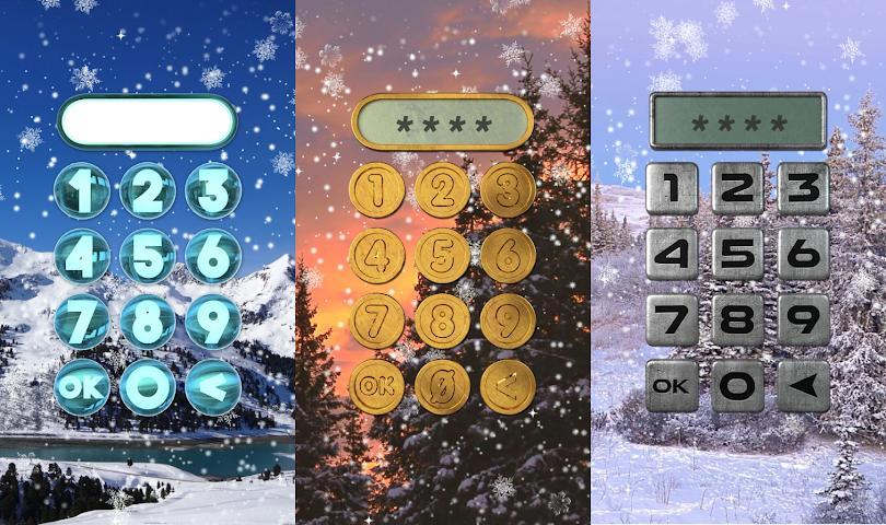 android Winter-Sperre Bildschirm. Screenshot 20