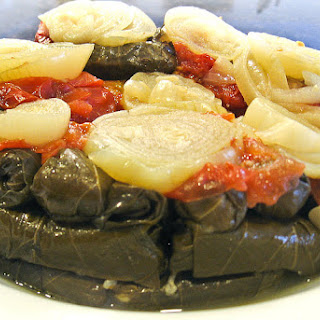Vegetarian Stuffed Grape Leaves Recipe - Warak Enab