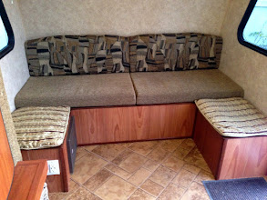 Photo: Dinette Mod: Made cushions for small benches.