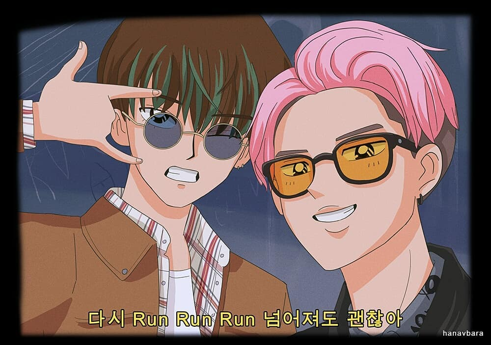 If BTS Starred In A 90s Anime This Is What They Would Look ...