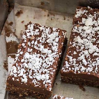 Chocolate And Coconut Crispy Slice
