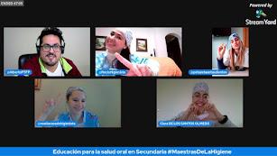 Participantes en el desarrollo de una de las charlas virtuales.