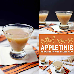 Salted Caramel Appletini with Salted Caramel-Infused Vodka for #appleweek