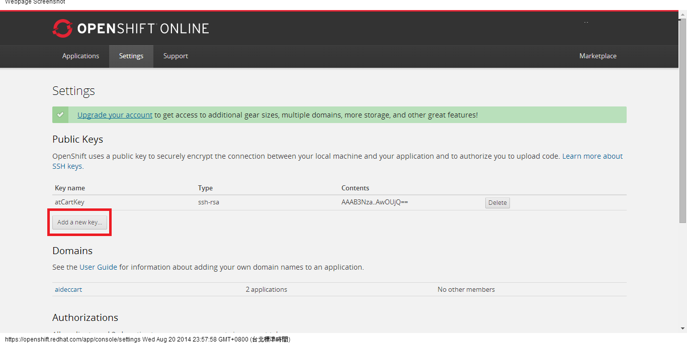 Settings   OpenShift Online by Red Hat.png