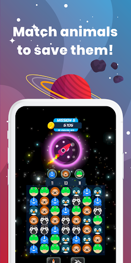 Match 3 Space Safari - Free Match 3 Game screenshot 2
