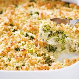 Rice and Broccoli Gratin.