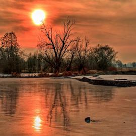 Winter by Miroslav Socha - Landscapes Waterscapes