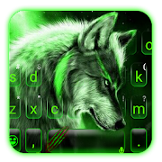 Green Wild Wolf Keyboard Theme