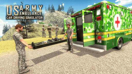 US Army Ambulance Driving Rescue Simulator 1.0.4 screenshots 1
