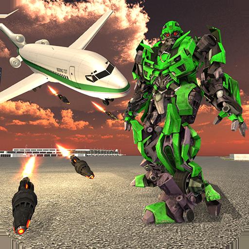 Airplane Robot Transform - Flying Hero Robot Wars