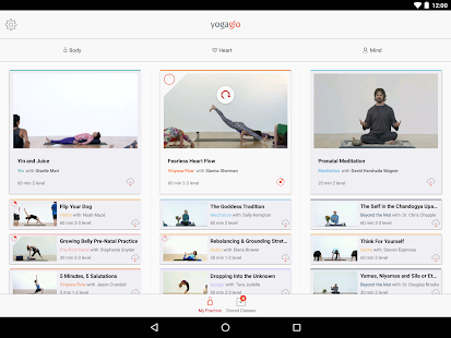 YogaGlo Offline Viewing App- screenshot thumbnail