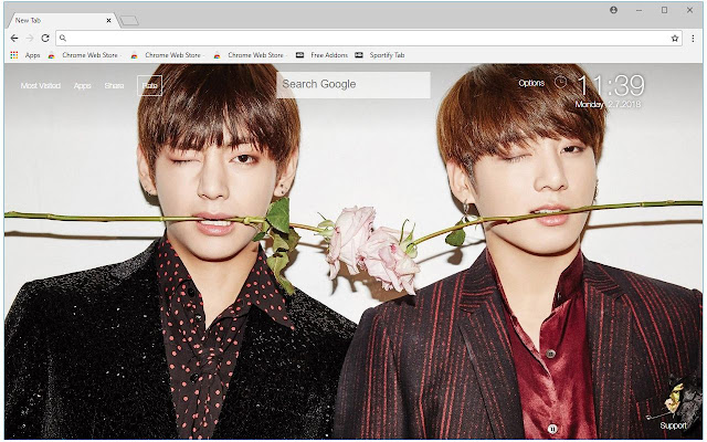 BTS V & Jungkook HD Wallpapers Vkook New Tab