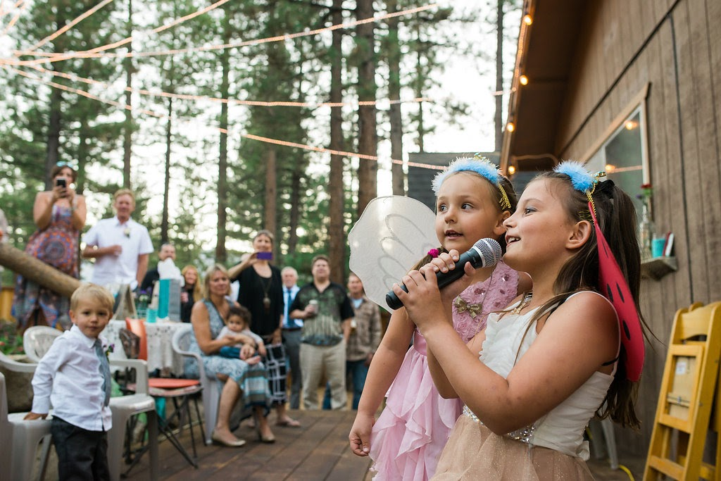 Tahoe backyard wedding