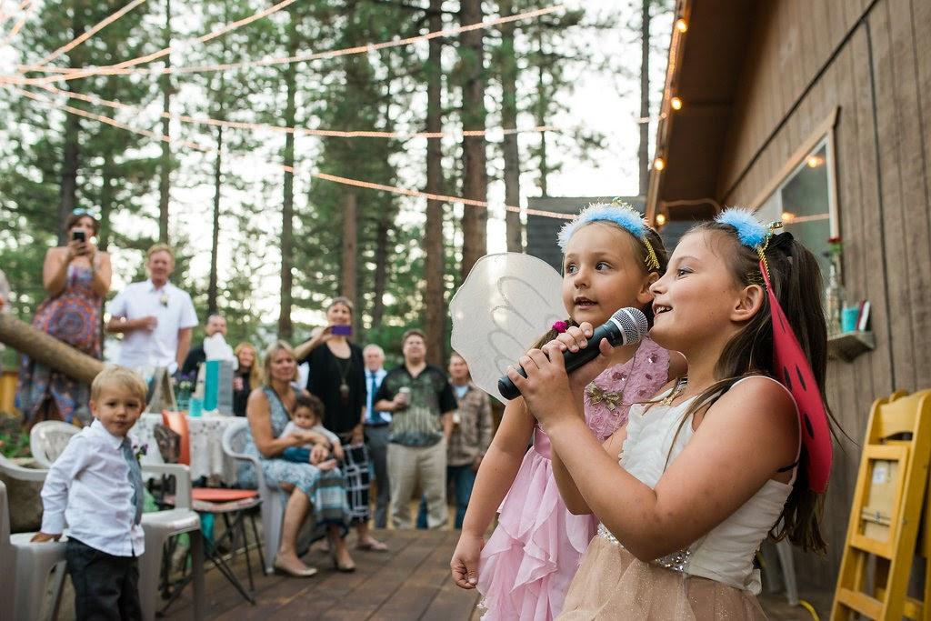 Tahoe backyard wedding