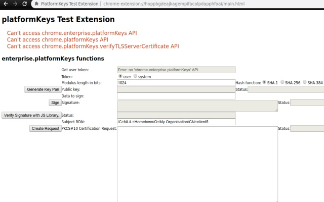 PlatformKeys Test Extension