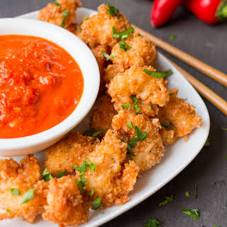 Coconut Prawns with Spicy Tomato Dip.