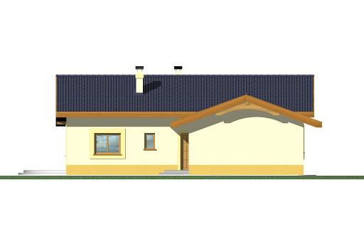 Mniszek z garażem - Elewacja przednia