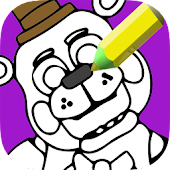 Indie Freddy Bear coloring book
