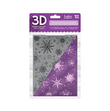 Crafters Companion 5x7 3D Embossing Folder - Sparkling Snowflake