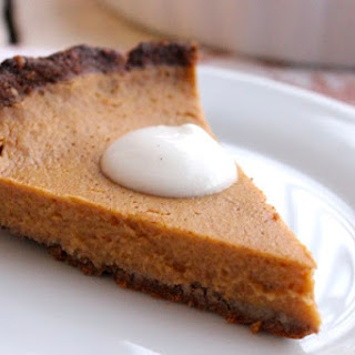 Butternut Squash Tart with Gingersnap Crust and Maple Coconut Whipped Cream