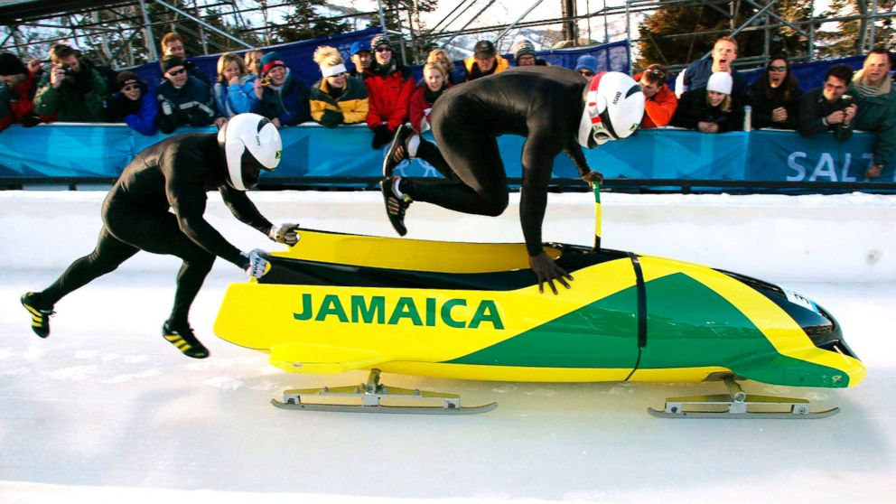 Photo: El equipo jamaicano de bobsleigh