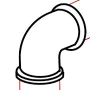 Isometric Pipe design 4 Icon