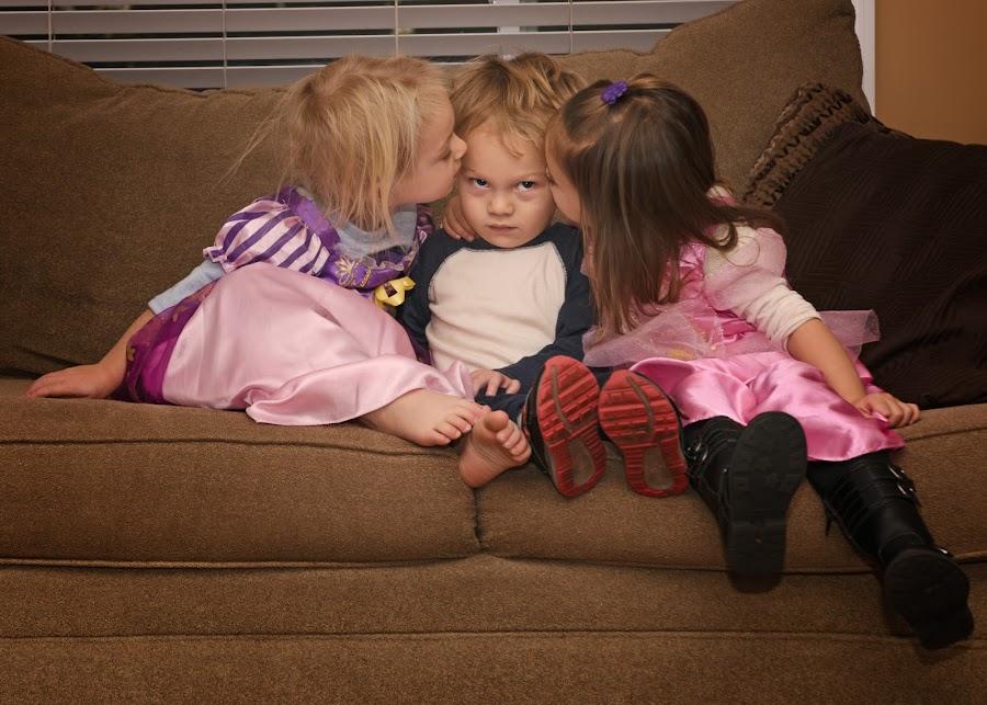 Cousin Love! by Michelle Sorel - Babies & Children Children Candids ( love, smooches, girl, boy, kisses,  )