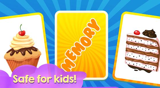 Memory Game for Children - Cake World - náhled