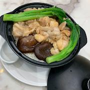 27. Chicken and Mushroom Rice in Hotpot 北菇滑雞飯