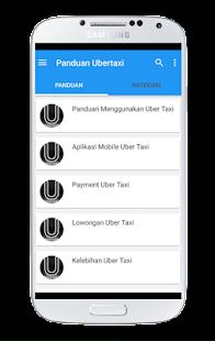 Panduan Uber Taxi screenshot