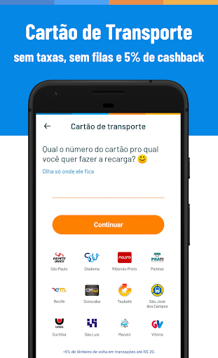 Recarga Celular, Pagar Contas e Boletos Sem Taxas screenshot 3
