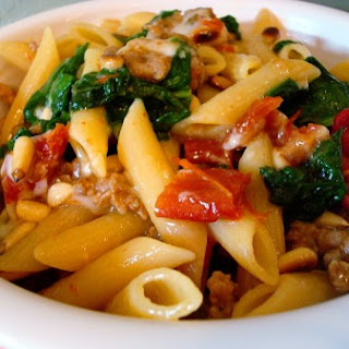 Sausage and Spinach Penne Skillet Supper