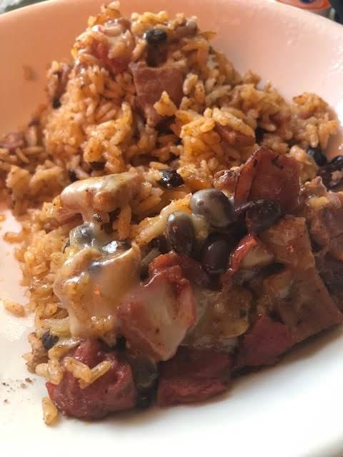 Ham Black Bean And Rice Skillet Dinner