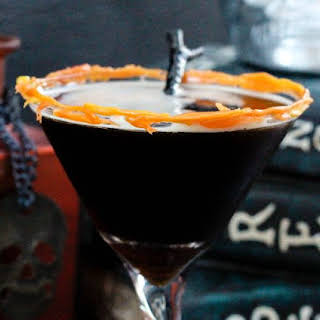 Coffee Martini Recipe with Melted Candy Corn.