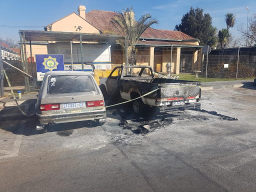 'Abusive' wife sets husband's car alight outside police station