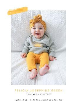 Josie's Birth Announcement - Baby Card item